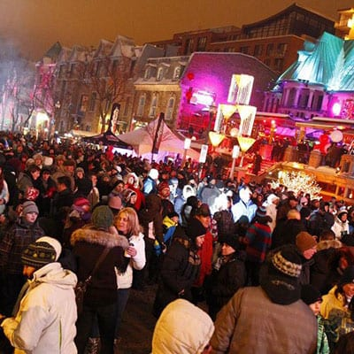 New Years Grande Allee Quebec city
