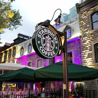 Starbuck, Quebec city