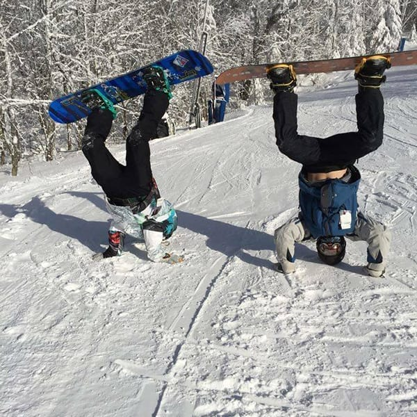 Funny snowboarders