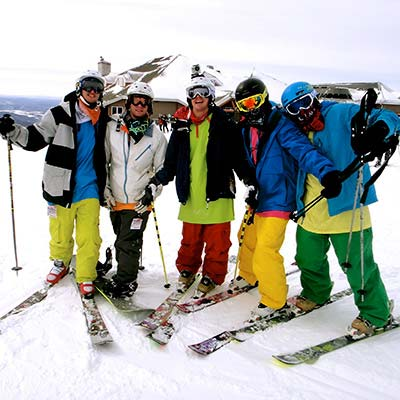 Funny skiers